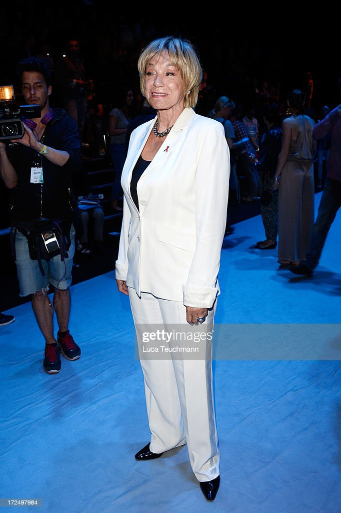 Judy Winter attends the Kilian Kerner Show during Mercedes-Benz Fashion Week Spring/Summer 2014 at Brandenburg Gate on July 2, 2013 in Berlin, Germany.