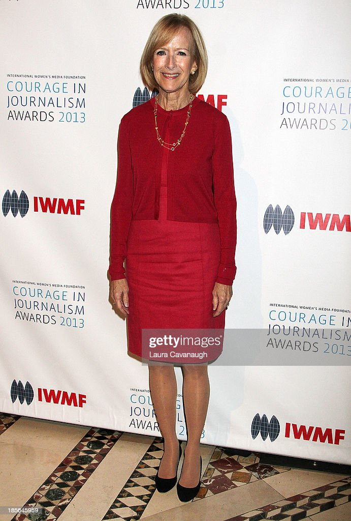 Judy Woodruff attends the International Women's Media Foundation's 2013 Courage In Journalism awards at Cipriani 42nd Street on October 23, 2013 in New York City.