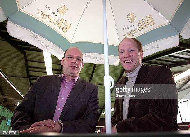 Juergen Donauer and Matthias Sammer during the 'Play Soccer Get Together' charity tournament sponsored by Bitburger on February 24 2007 in Munich...