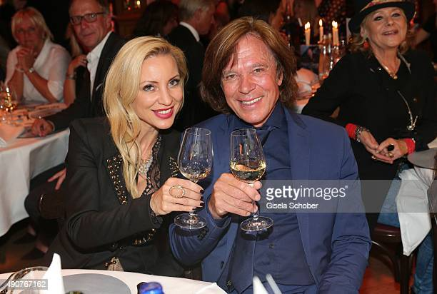 Juergen Drews and his wife Ramona during Ralph Siegel's 70th birthday party at Schuhbeck's Teatro on September 30 2015 in Munich Germany