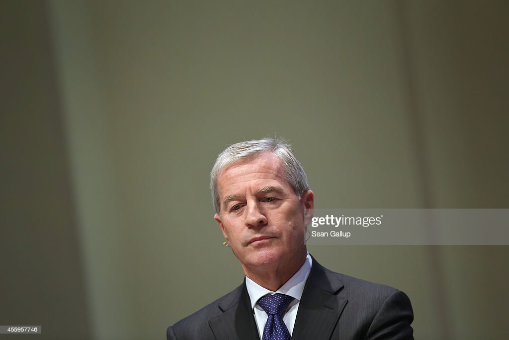 Juergen Fitschen coead of Deutsche Bank attends the annual congress of the German Federation of Industry on September 23 2014 in Berlin Germany...
