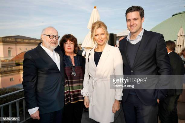 Juergen Flimm outgoing director of Staatsoper his wife Susanne Flimm Veronica Ferres and Matthias Schulz incoming director of Staatsoper attend the...