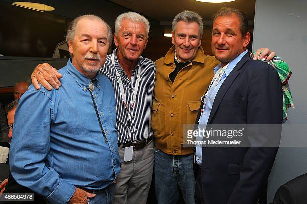Juergen Grabowski Erich Ribbeck Dieter Mueller and Thomas Kroth members of the Club of Former National Players are seen prior to the EURO 2016...