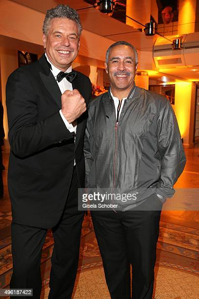 Juergen Hingsen and Daley Thompson during the German Sports Media Ball at Alte Oper on November 7 2015 in Frankfurt am Main Germany