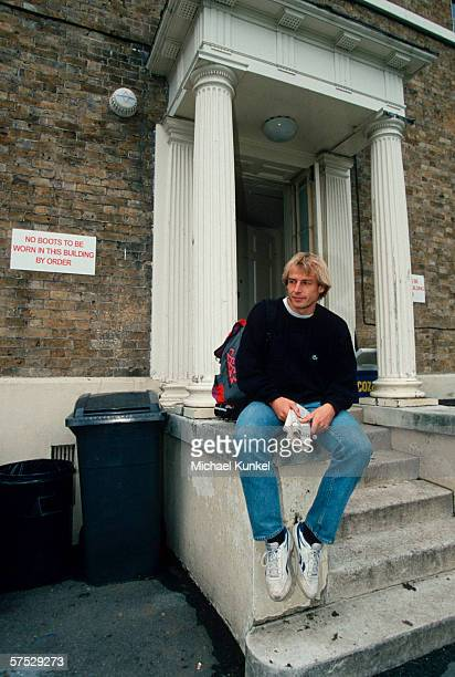 Juergen Klinsmann of Tottenham Hotspurs posed during a photo call on September 01 1994 in London Great Britain