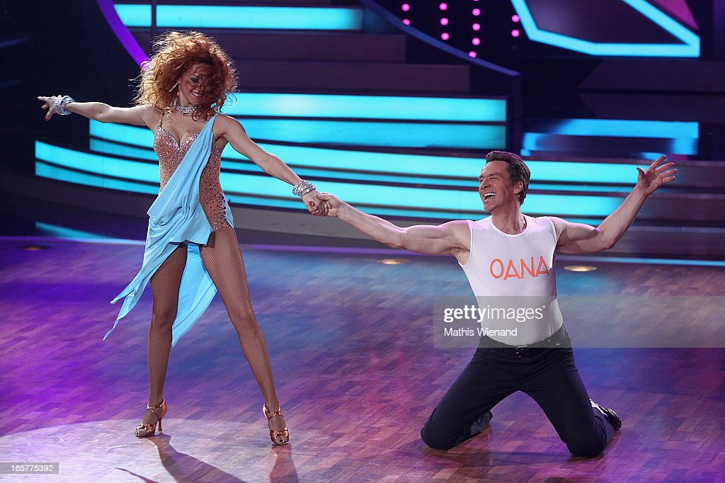 Juergen Milski and Oana Andreea Nechiti attend the 1st Show of 'Let's Dance' on RTL on April 5, 2013 in Cologne, Germany.