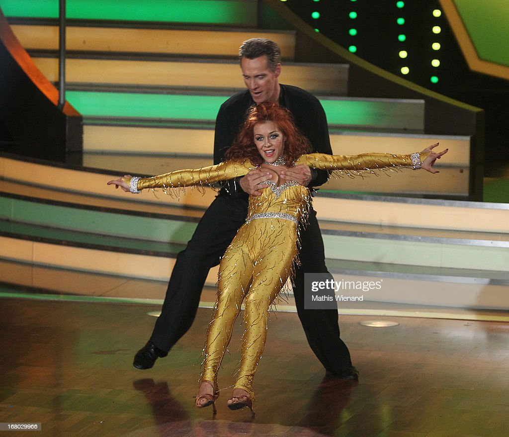 Juergen Milski and Oana Andreea Nechiti attend the 5th Show of Let's Dance on RTL on May 3, 2013 in Cologne, Germany.