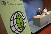 Juergen Resch of the German environmetal group Deutsche Umwelthilfe speaks at a press conference to detail the group's accusations against German...