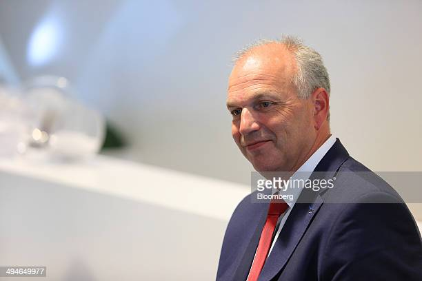 Juergen Stackmann chief executive officer of Seat SA reacts during an interview at the Auto Mobil International automotive trade fair at Leipziger...