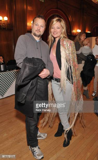 Juergen Teller and Kate Moss attend the launch of new collection by Stella McCartney for GapKids at Porchester Hall on March 16 2010 in London England