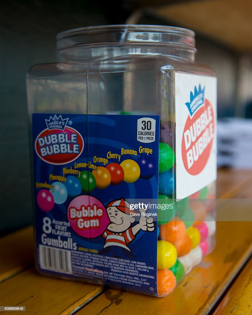a jug of bubble gum sits in the dugout of the los angeles dodgers before a - Bubble Jug