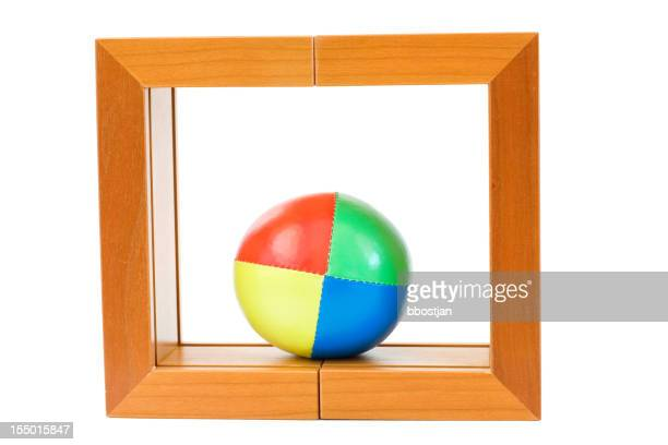 Juggling ball in a frame