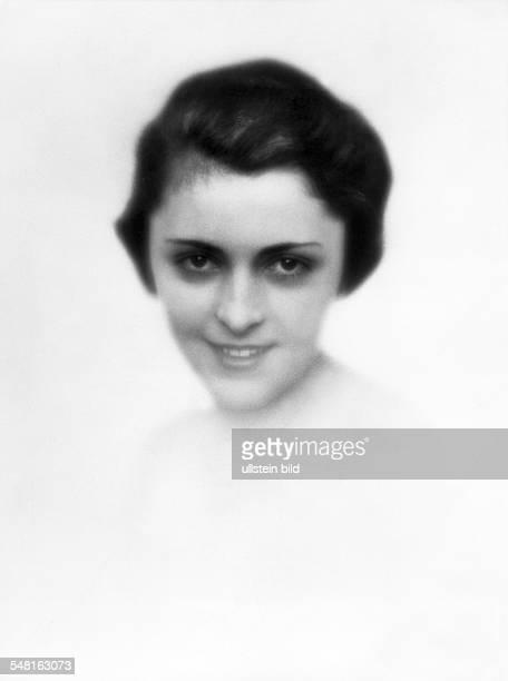 Jugo Jenny Actress Austria * portrait undated Vintage property of ullstein bild