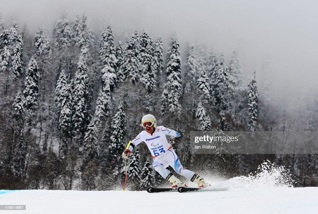 Jugoslav Milosevic of Sebia competes in Men's Giant Slalom Standing during day eight of the Sochi 2014 Paralympic Winter Games at Rosa Khutor Alpine Center on March 15, 2014 in Sochi, Russia.