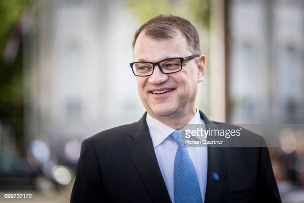 Juha Sipilae Prime Minister of Finland is pictured during his visit in Germany on June 21 2017 in Berlin Germany