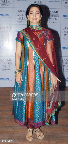 Juhi Chawla at day 4 of the Lakme Fashion Week in Mumbai March 8 2010