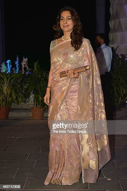 Juhi Chawla at Rahul Thackeray and DrAditi's wedding reception in Mumbai