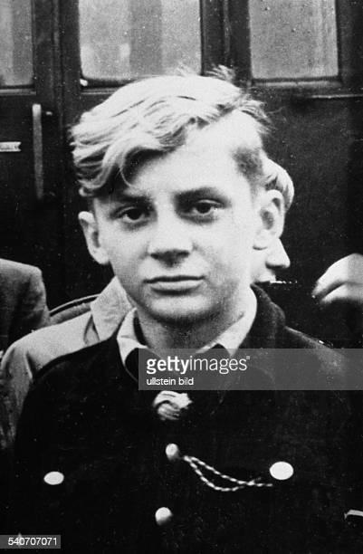 Juhnke Harald *Schauspieler Entertainer D als Jugendlicher in der Hitlerjugend 1943