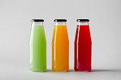 Juice Bottle Mock-Up - Three Bottles