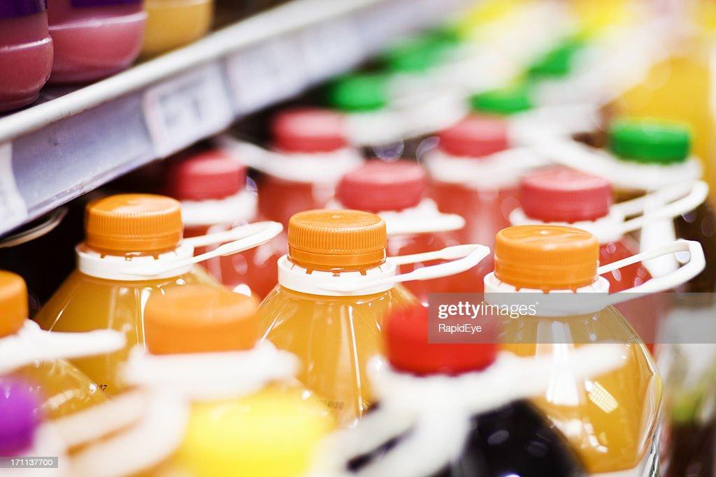 ジュース、スーパーマーケット : ストックフォト