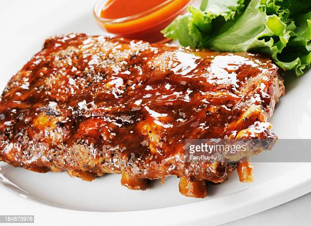 Juicy barbecue ribs