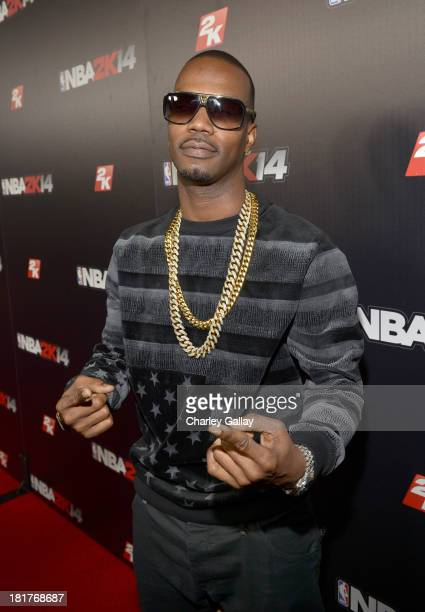 Juicy J attends the NBA 2K14 premiere party at Greystone Manor on September 24 2013 in West Hollywood California