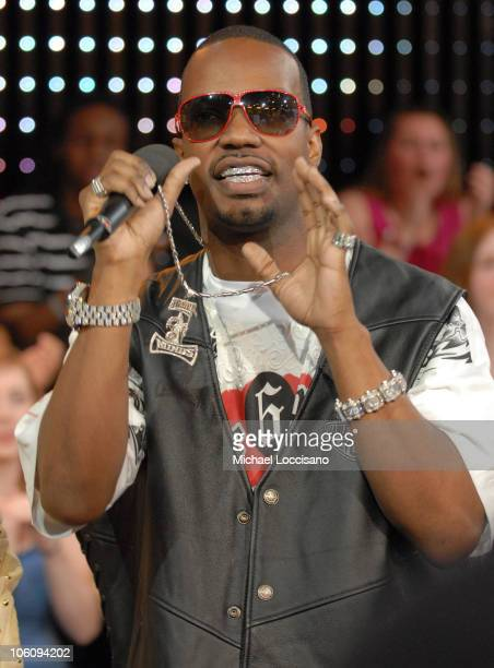 Juicy J of 3 6 Mafia during Three 6 Mafia Visits MTV's 'TRL' March 22 2006 at MTV Studios Times Square in New York City New York United States