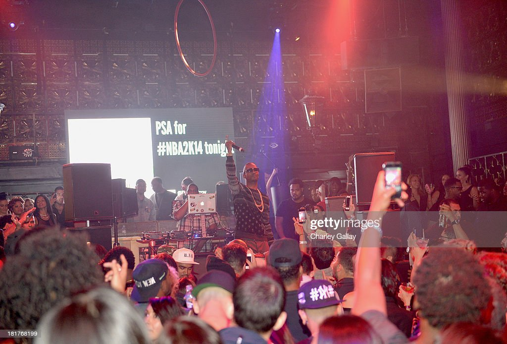 Juicy J performs onstage during the NBA 2K14 premiere party at Greystone Manor on September 24, 2013 in West Hollywood, California.