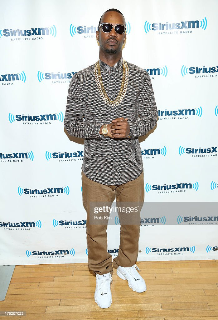 <a gi-track='captionPersonalityLinkClicked' href=/galleries/search?phrase=Juicy+J&family=editorial&specificpeople=698028 ng-click='$event.stopPropagation()'>Juicy J</a> visits at SiriusXM Studios on August 28, 2013 in New York City.