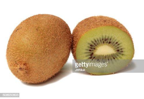 Juicy kiwi fruit isolated on white background : Stock Photo