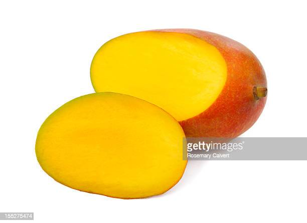 Juicy, ripe mango ready to eat.
