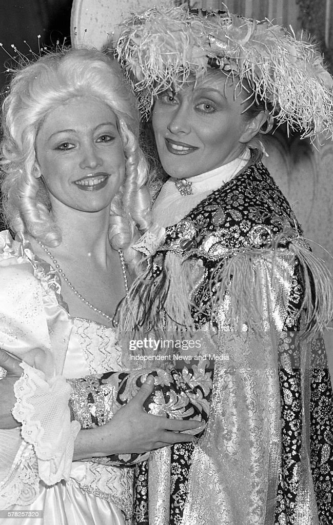 Juile Blunden who playes the title role Cinderella and Twink who playes Buttons at their final performance in the Olympia theatre in Dublin