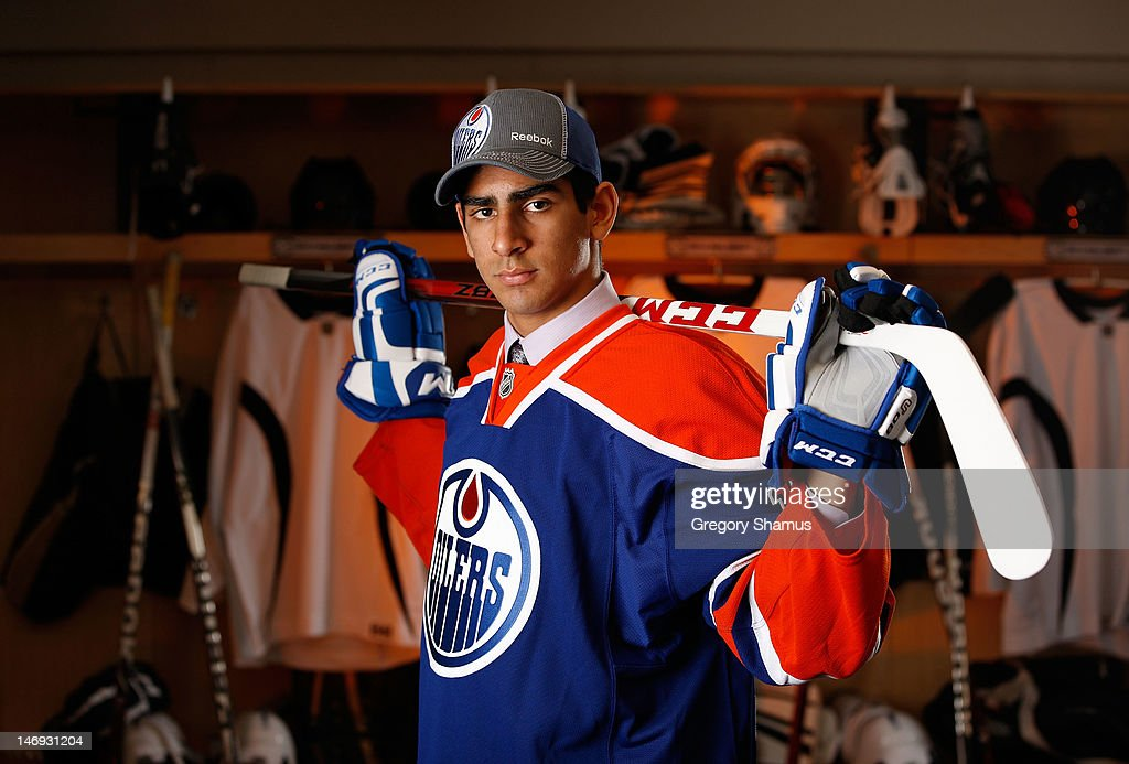 Jujhar Khaira, 63rd overall pick by the Edmonton Oilers, poses for a portrait during the 2012 NHL Entry Draft at Consol Energy Center on June 23, 2012 in Pittsburgh, Pennsylvania.