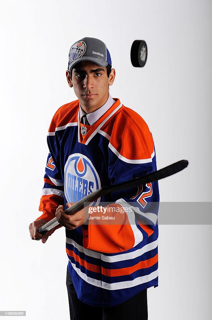 Jujhar Khaira, 63rd overall pick by the Edmonton Oilers, poses for a portrait during Day Two of the 2012 NHL Entry Draft at Consol Energy Center on June 23, 2012 in Pittsburgh, Pennsylvania.