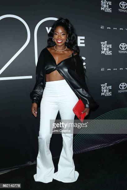 Juju G attends the VH1 Save The Music 20th Anniversary #TurnItUpTo20 Gala at SIR Stage37 on October 16 2017 in New York City