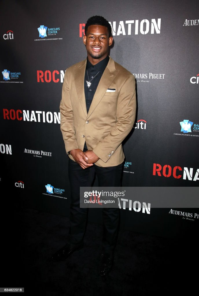 JuJu Smith-Schuster attends Roc Nation's Pre-GRAMMY Brunch on February 11, 2017 in Los Angeles, California.