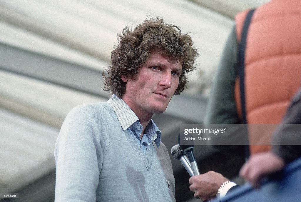 Bob Willis of England is interviewed after the Third Ashes Test match between England and Australia at Headingley in Leeds England Willis took 8 for...