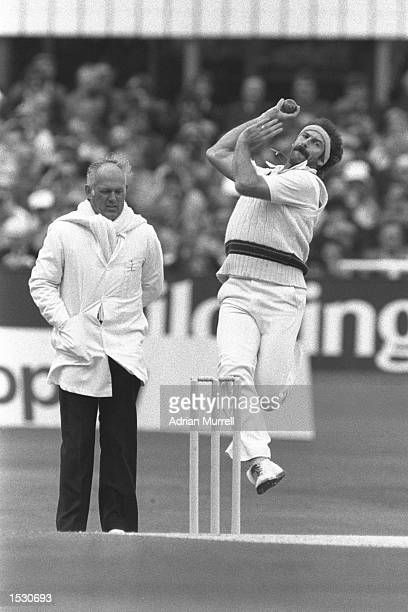Dennis Lillee of Australia bowling during the third test against England at Headingley in Leeds Mandatory Credit Adrian Murrell/Allsport