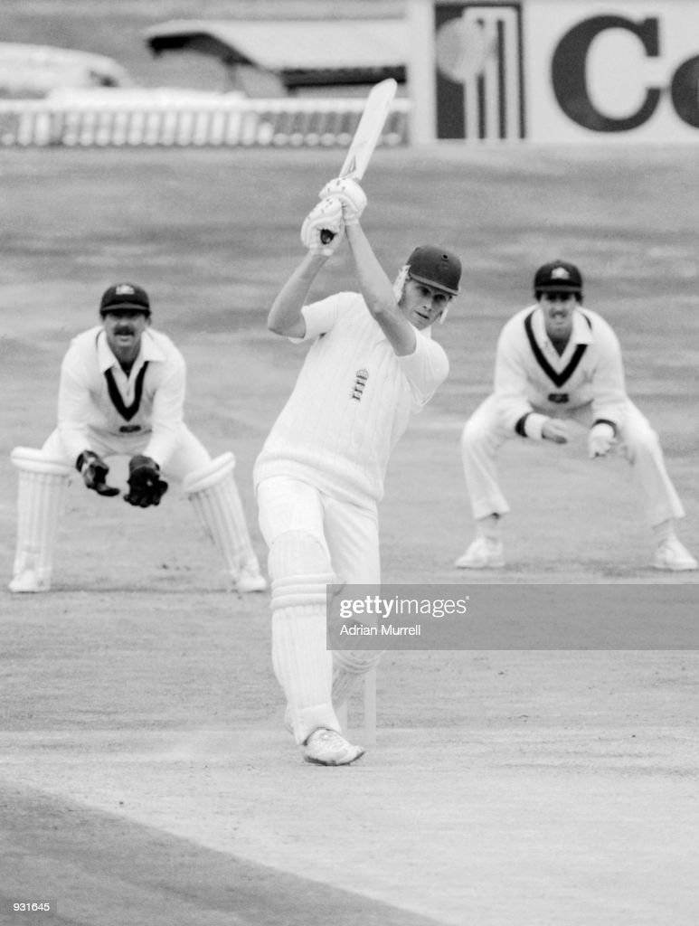 Graham Dilley of England in action during the 3rd Ashes Test match between England and Australia at Headingley in Leeds England Dilley made 56 in the...