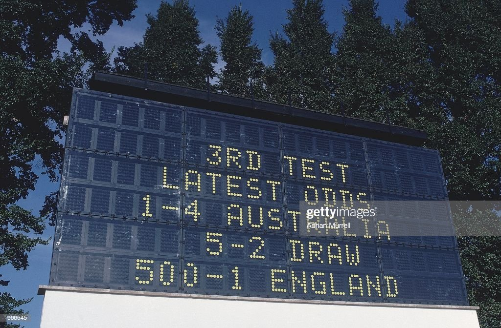 The scoreboard reveals the odds as England are priced at 5001 to win the 3rd Ashes Test against Australia at Headingley in Leeds England Dennis...