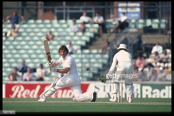 Ian Botham of England batting during the third test against India at the Oval London Mandatory Credit Adrian Murrell/Allsport UK