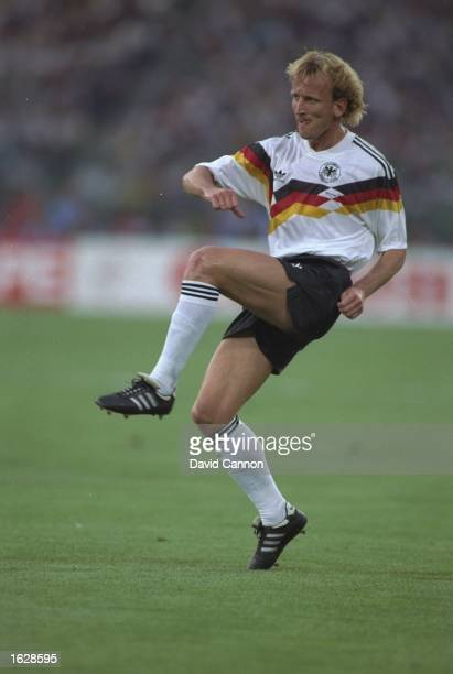 Andreas Brehme of West Germany in action during the World Cup Final against Argentina at the Olympic Stadium in Rome West Germany won the match 10...