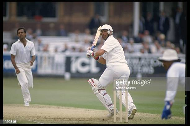 Graham Gooch of England batting during his historic innings of 333 against India in the first test at Lords London Mandatory Credit Adrian...