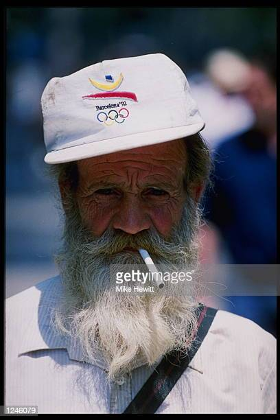 A fan sporting a 1992 Barcaelona Olympics hat during the 1992 Summer Olympics in Barcelona Spain Mandatory Credit Mike Hewitt/Allsport