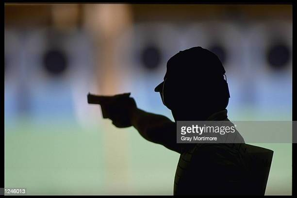 An impression of Ralf Schumann of Germany during the rapid pistol event at the 1992 Olympic Games in Barcelona Spain Mandatory Credit Gray...