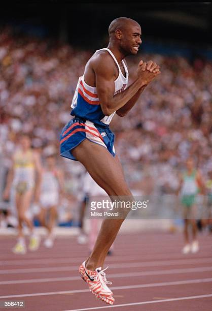 Mike Powell Long Jumper Stock Photos and Pictures