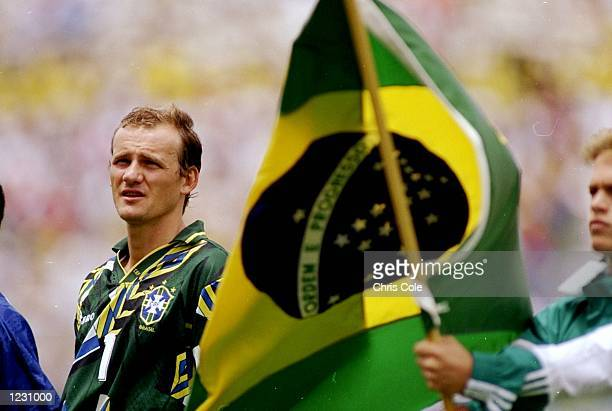 Portrait of Brazil goalkeeper Claudio Taffarel before the World Cup quaterfinal against Holland at the Cotton Bowl in Dallas Texas USA Brazil won the...
