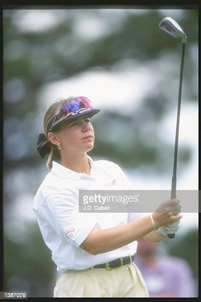 Annika Sorenstam eyes her shot during the US Women''s Open tournament at the Broadmoor Golf Club in Colorado Springs Colorado Mandatory Credit JD...