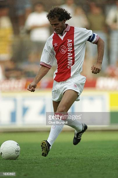 Danny Blind of Ajax in action during a match against Borussia Monchengladbach at the Bokelberg Stadium in Monchengladbach Germany Mandatory Credit...