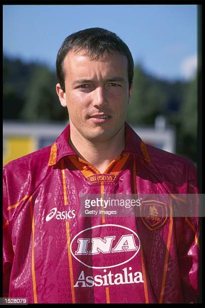 A portrait of Abel Eduardo Balbo of Roma football club Mandatory Credit Allsport UK